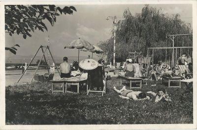 Gyárfás Szálloda - képeslap, Balatonlelle, 1940-es évek eleje