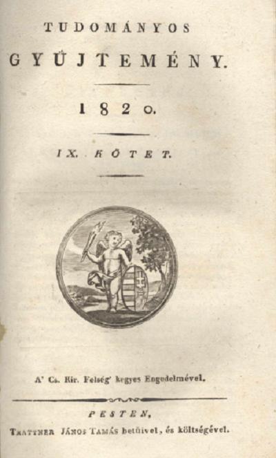 Tudományos Gyűjtemény 1820 - IX. kötet