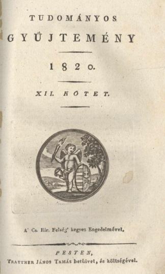 Tudományos Gyűjtemény 1820 - XII. kötet