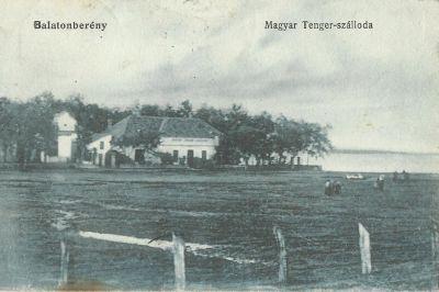 Magyar Tenger Szálloda - képeslap, Balatonberény, 1924