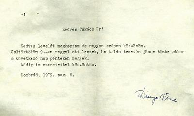 Takács István dombrádi levelezése 13
