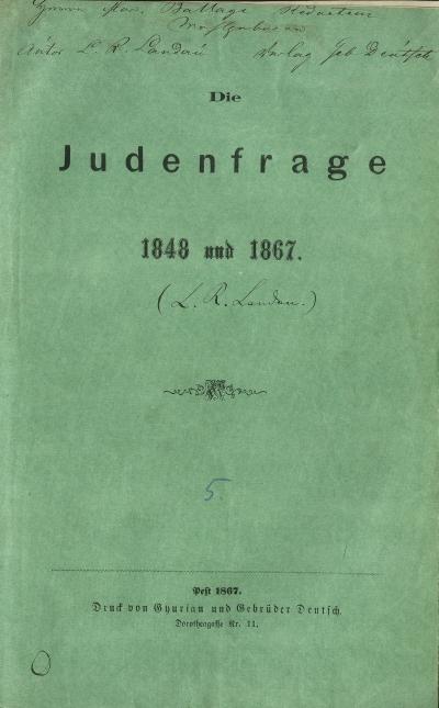 Die Judenfrage 1848 und 1867