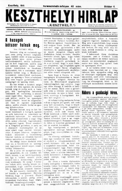 Keszthelyi Hírlap 1914.10.04.