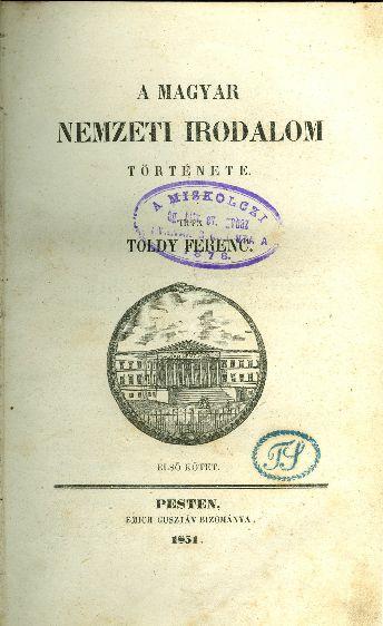 A magyar nemzeti irodalom története
