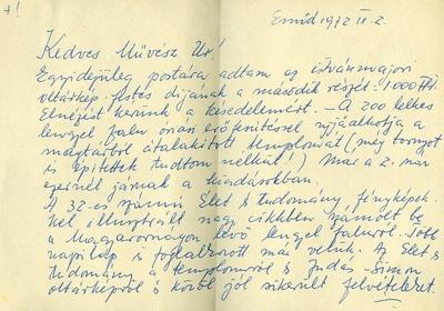 Takács István emődi levelezése 9
