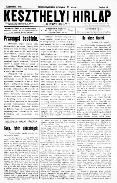 Keszthelyi Hírlap 1915.06.06.
