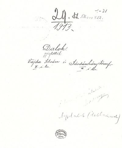Vajda István és Járdánházy József: Dalok, gyermekversek