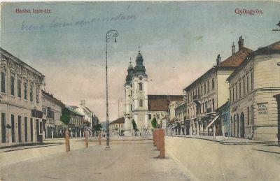 Bruckner Szálloda - képeslap, Gyöngyös, 1910
