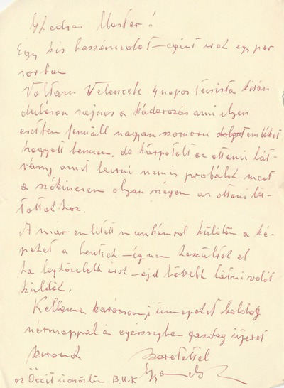 Takács István gyulafirátóti levelezése 7