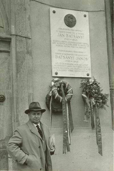 Batsányi János-emléktábla kassai lakóházán