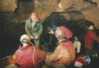 Barlangi felvétel szifonnal