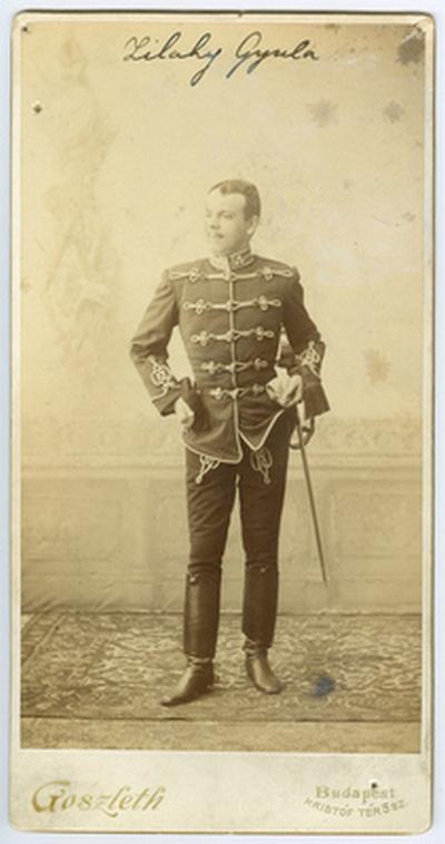 Zilahy Gyula huszáregyenruhában