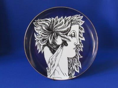Falitányér, porcelán