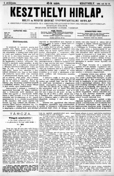 Keszthelyi Hirlap 1891.10.18.
