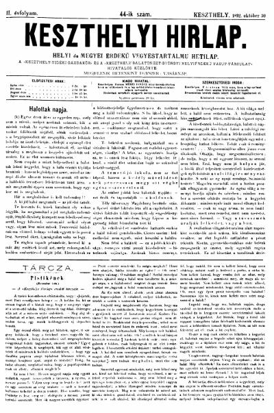 Keszthelyi Hirlap 1892.10.30.