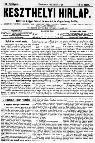Keszthelyi Hirlap 1893.10.29.