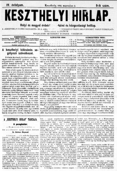 Keszthelyi Hirlap 1894.03.04.