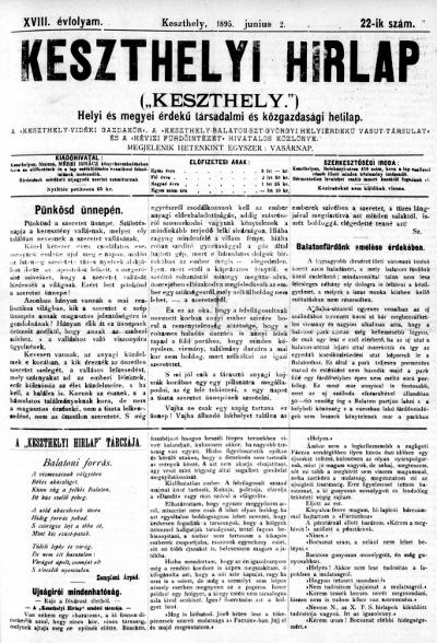 Keszthelyi Hirlap 1895.06.02.