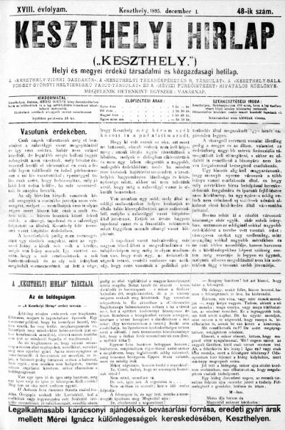 Keszthelyi Hirlap 1895.12.01.