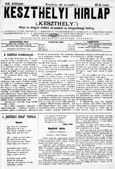 Keszthelyi Hirlap 1896.11.08.