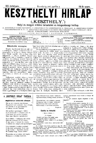 Keszthelyi Hirlap 1897.04.04.
