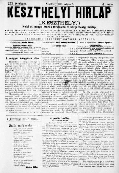 Keszthelyi Hirlap 1898.05.08.