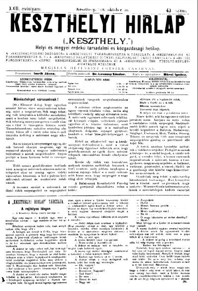Keszthelyi Hirlap 1899.10.22.