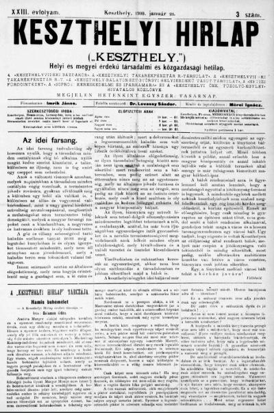 Keszthelyi Hirlap 1900.01.21.