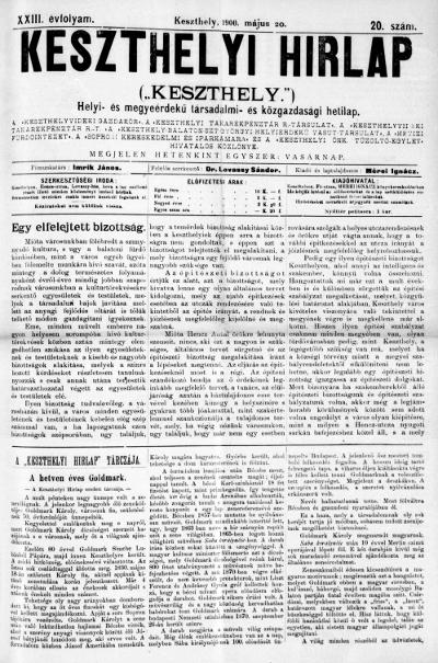Keszthelyi Hirlap 1900.05.20.