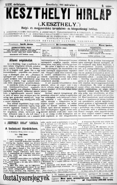 Keszthelyi Hirlap 1901.03.03.