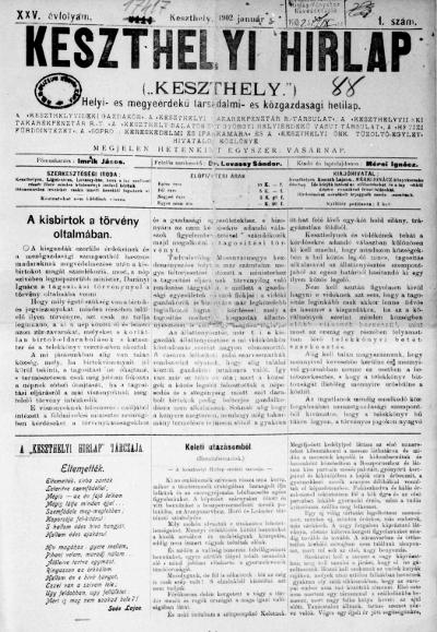 Keszthelyi Hirlap 1902.01.05.