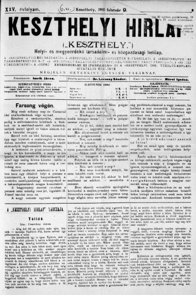Keszthelyi Hirlap 1902.02.09.