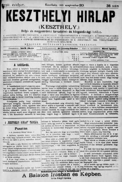 Keszthelyi Hirlap 1903.09.20.