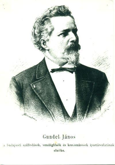 Gundel János (1844-1915) szállodás-vendéglős portréja, Budapest