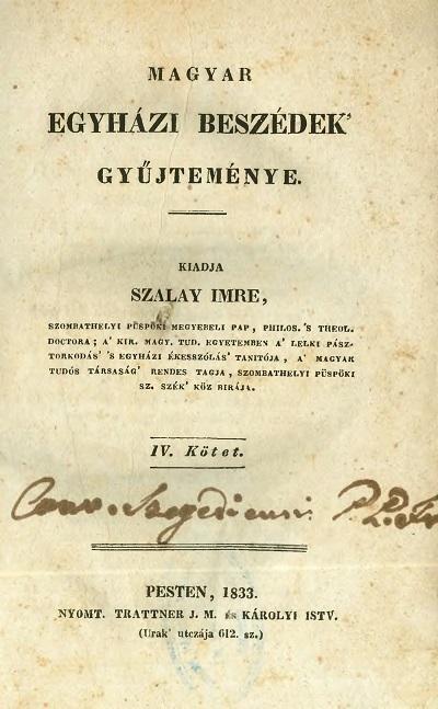 Magyar egyházi beszédek gyűjteménye