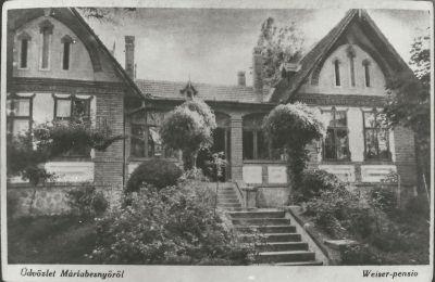 Weiser Panzió, Máriabesnyő, 1935