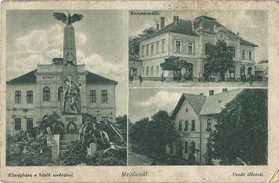 Korona Szálloda - képeslap, Mezőcsát,