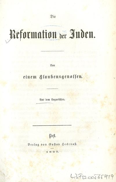 Die Reformation der Juden