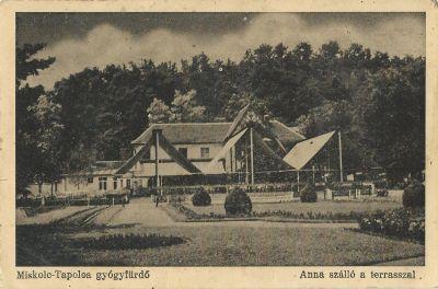 Anna Szálloda - képeslap, Tapolcafürdő,
