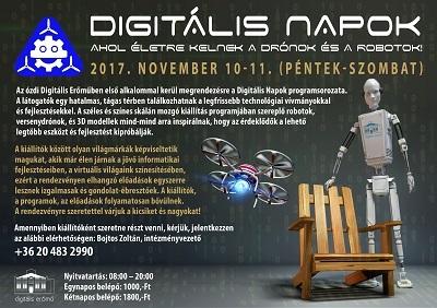 Digitális napok - ahol életre kelnek a drónok és a robotok!