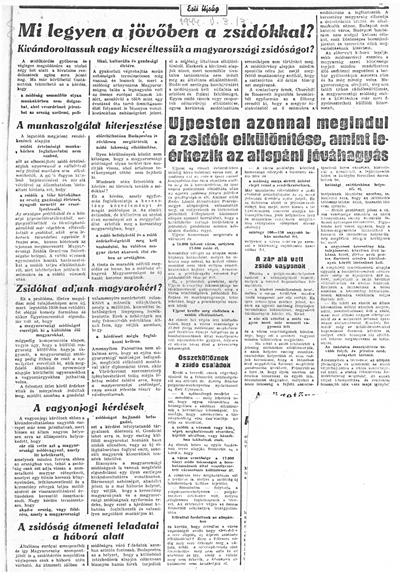 Esti Ujság - 1944. május 3. - újságcikk