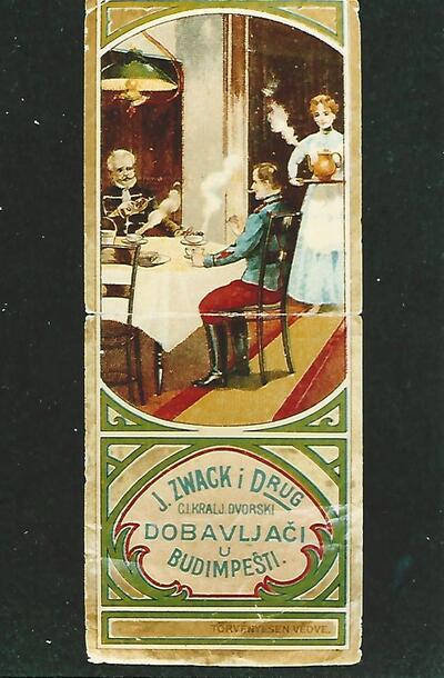 Zwack Unicum számolócédula 20. század eleje