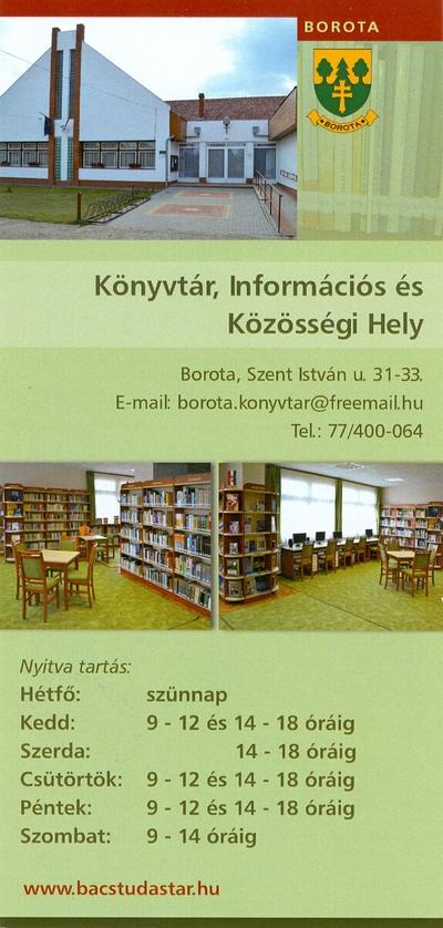 Könyvtár, Információs és Közösségi Hely