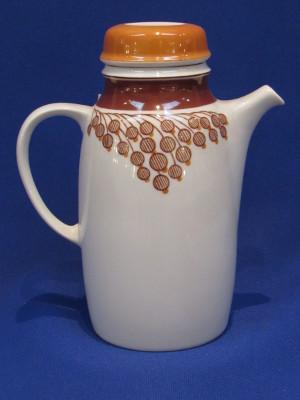 230. Mokka kanna fedővel, porcelán