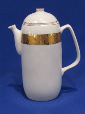 158. Mokka kanna fedővel, porcelán