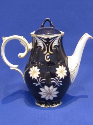Mokka kanna fedővel, porcelán