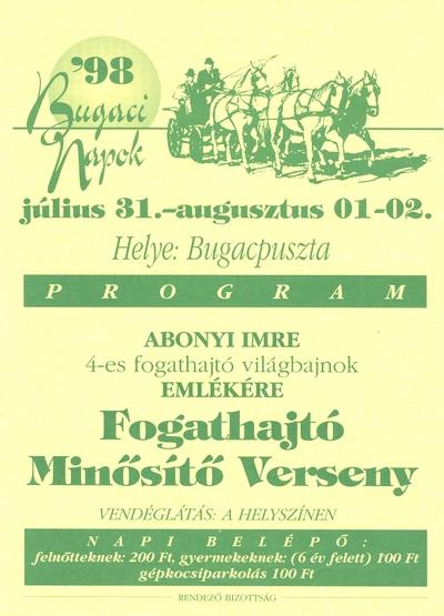 Bugaci Napok 1998