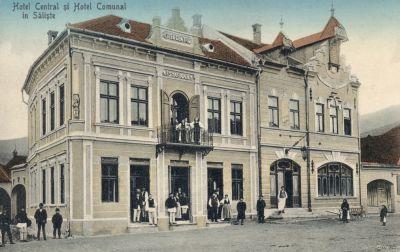 Központi Szálloda - képeslap, Szelistye, 1930
