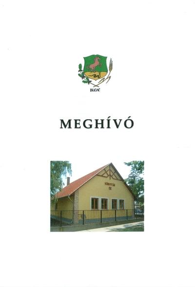 Meghívó a felújított községi könyvtár megnyitójára