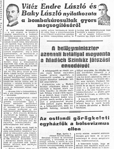 Esti Ujság - 1944. április 8. - újságcikk